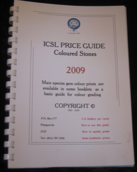ICSL Price Guide
