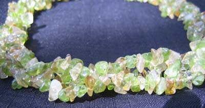 Citrine with Peridot