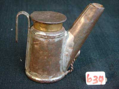 Early Mine Tallow Lamp No 634