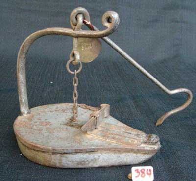 Early Mine oil Lamp No 384