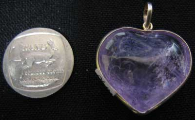 Amethyst Small heart