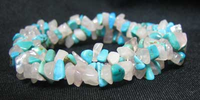 Rose Quartz and Blue Magnesite