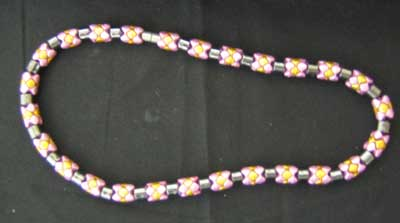 Hematite & coloured bead necklace