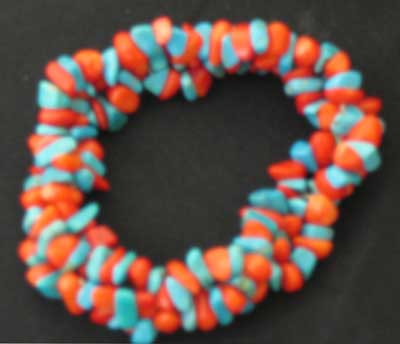 Coral and Blue Magnesite