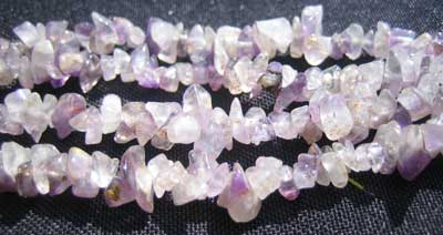 Purple Fluorite Chip Necklace