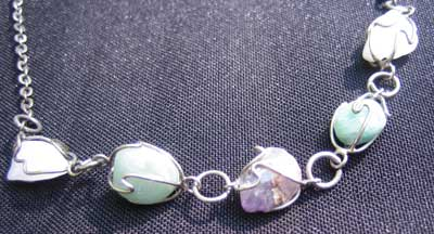 Amethyst Aventurine and Milky Quartz