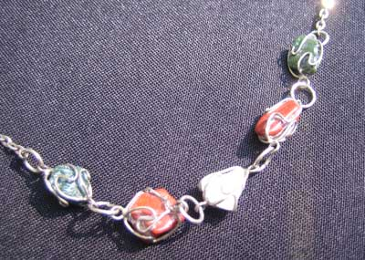 Red and Green Jasper with Milky Quartz