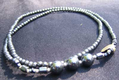 Hematite long necklace