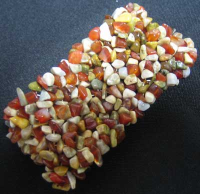 Carnelian and Agate Chip Bracelet