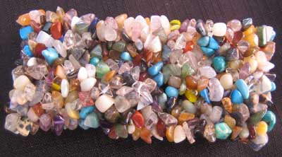 Mixed Crystal Chip Bracelet